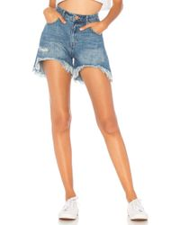 One Teaspoon - Legend High Waist Mom Short - Lyst