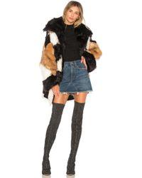 One Teaspoon - Heartshaker Faux Fur Jacket - Lyst