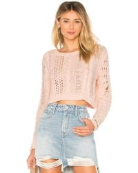 Lovers + Friends - Distress Me Out Jumper In Pink - Lyst