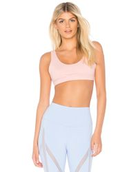 Alo Yoga - Ambient Sports Bra In Pink - Lyst
