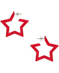 Shashi - X Revolve Star Earrings In Red. - Lyst