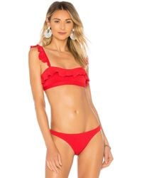 Suboo - The Chase Frill Bandeau Bikini Top - Lyst