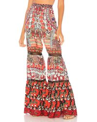 Camilla - Wide Leg Tiered Pant In Red - Lyst