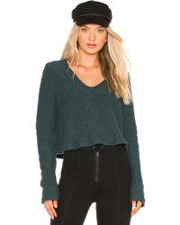 Lamade - Carine Crop Sweater In Dark Green - Lyst