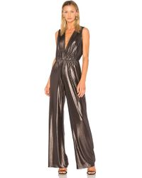 Lyst Amanda Uprichard Gunnar Metallic Jumpsuit In Metallic