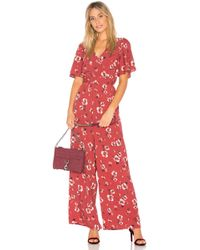 Band Of Gypsies - Poppy Floral Jumpsuit - Lyst