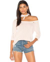 Nation Ltd - Nolita Off The Shoulder Sweater In Pink - Lyst