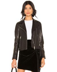 AllSaints - Dalby Leather Biker Jacket In Black - Lyst
