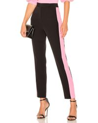 MILLY - High Waist Side Combo Skinny Pant - Lyst