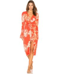 Free People - Mixed Print Twist Dress - Lyst