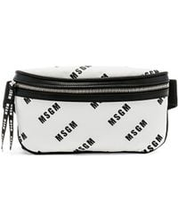 MSGM - Logo Fannypack In White. - Lyst
