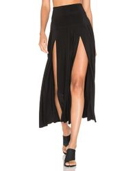Norma Kamali - Pleated Skirt With Slit - Lyst
