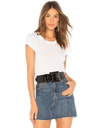 L'Agence - Cory Scoop Neck Tee In White - Lyst