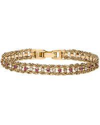 Vanessa Mooney - The Frenzy Bracelet In Metallic Gold. - Lyst