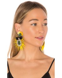 Ranjana Khan - Bow Drop Earring In Yellow. - Lyst