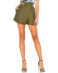 Fleur du Mal - Pleated Shorts In Army - Lyst