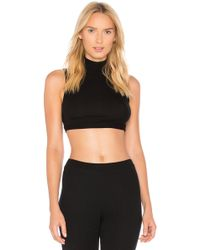 Only Hearts - Feather Weight Rib Mock Neck Crop Top - Lyst