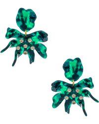 Lele Sadoughi - Daffodil Earrings In Green. - Lyst