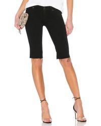 Hudson Jeans - Amelia Cut Off Knee Short In Black - Lyst