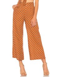 Faithfull The Brand - Tomas Trousers In Brick - Lyst