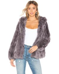 Heartloom - Yuko Fur Jacket In Gray - Lyst