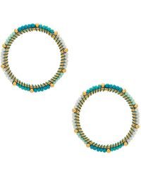 Rebecca Minkoff - Front Facing Beaded Hoop Earrings - Lyst