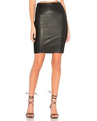 Bailey 44 - Tolstoy Eco-leather Pencil Skirt In Black - Lyst