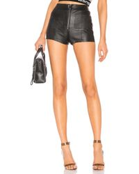 SPRWMN - Leather Hot Pants - Lyst