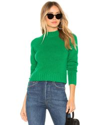Vince - Shrunken Pullover In Green - Lyst