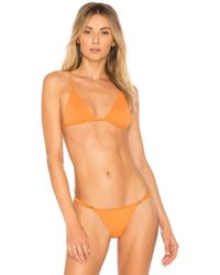 Minimale Animale - The Lucid Bikini Top In Orange - Lyst