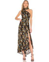 Nicholas - Ava Floral Tie Neck Maxi Dress - Lyst