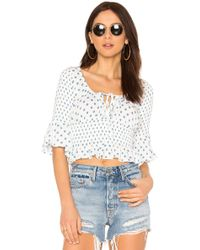Free People - A Bit Of Something Sweet Top In White - Lyst