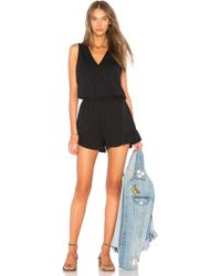 d9b4982a9d8 Lyst - Blq Basiq Sleeveless Romper in Blue