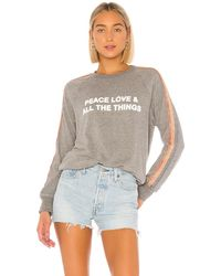Spiritual Gangster Peace Old School Pullover - Gray