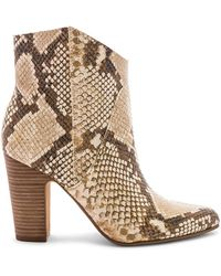 Vince Camuto - Women's Creestal Almond Toe Snakeskin-embossed Leather Booties - Lyst