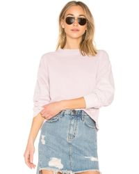 Current/Elliott - The Slouchy Crop Sweatshirt - Lyst