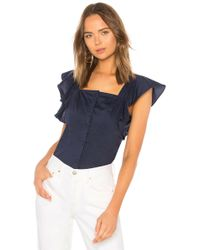Kendall + Kylie - Ruffle Sleeve Top - Lyst