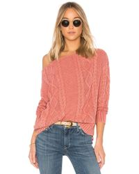 Callahan - Cable Knit Off The Shoulder Jumper - Lyst
