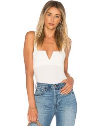 Free People - Pippa V-wire Bodysuit In Ivory - Lyst