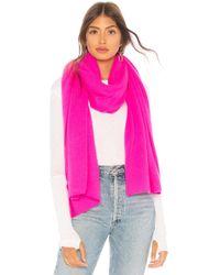 White + Warren - Travel Wrap In Pink. - Lyst