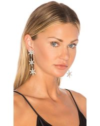 Jennifer Behr - Aurora Earrings In Metallic Silver. - Lyst