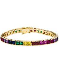 Joolz by Martha Calvo - Multicolor Tennis Bracelet - Lyst