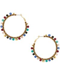 Rebecca Minkoff - Morocco Hoop Earrings In Metallic Gold. - Lyst