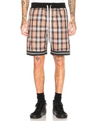 Represent - Tartan Shorts In Brown - Lyst