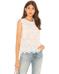 Generation Love - Courtney Eyelet Lace Top In White - Lyst