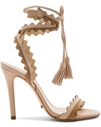 45d9ff366f3a Lyst - Nine West Lisana Platform Sandals in Brown