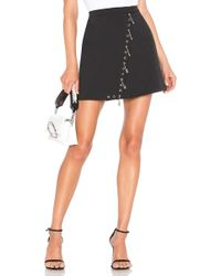 Versus - Pin Mini Skirt In Black - Lyst