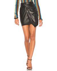 Ella Moss - Faux Leather Mini Skirt - Lyst