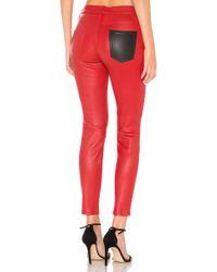 Current/Elliott - Stiletto Leather Trousers - Lyst
