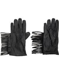 Maison Scotch - Leather Fringe Gloves - Lyst
